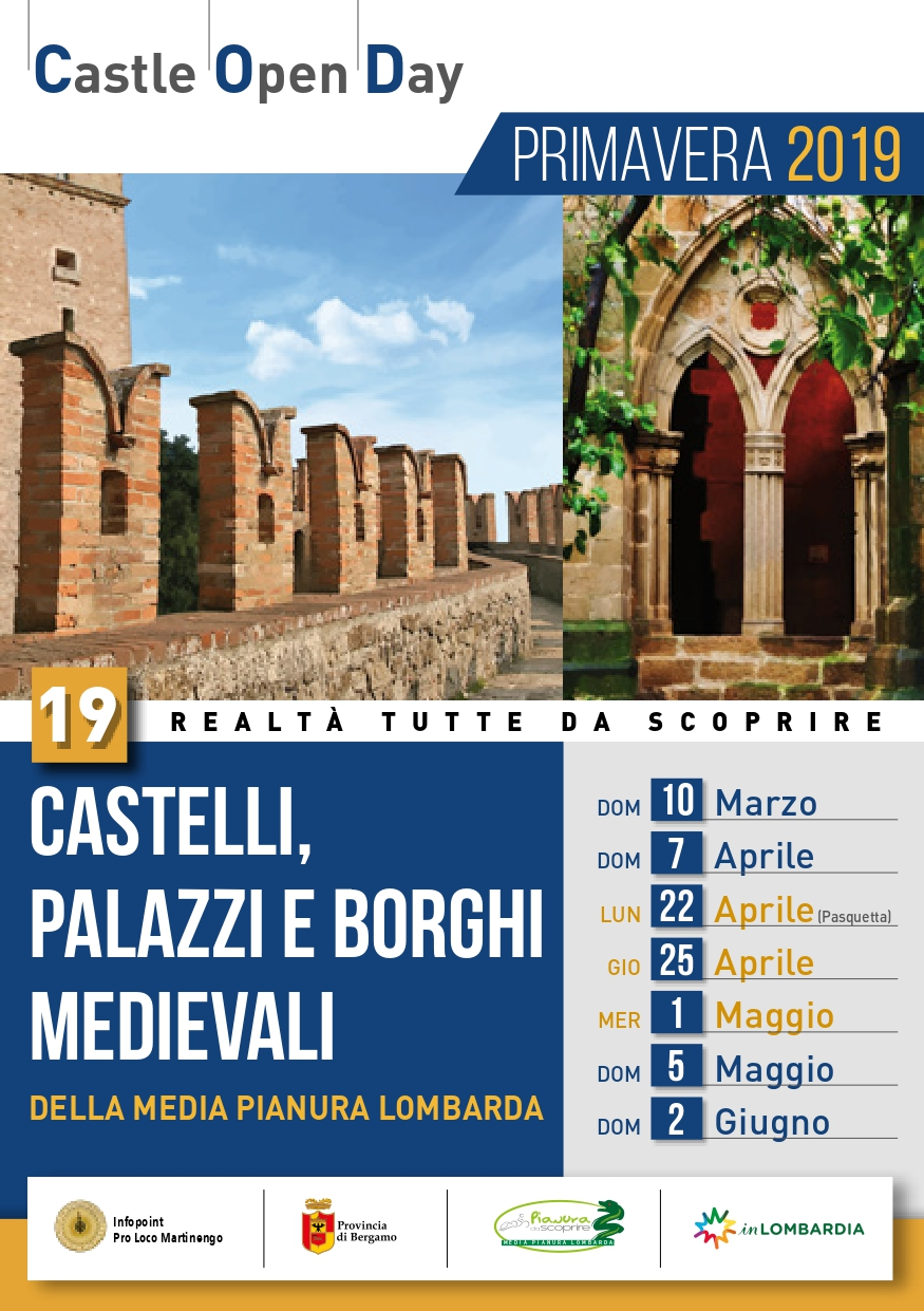 Castelli APERTI- APERTURE SPECIALI -  1 SETTEMBRE - 6 OTTOBRE - 3 NOVEMBRE